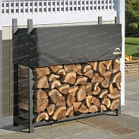 Abri pour bois de chauffage 0.8 stères en métal et housse de protection