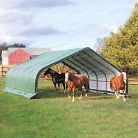 Abri en toile pour chevaux de 40.9m2 larg. 6.70m x long. 6.10m