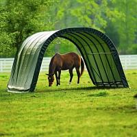 Abri en toile pour chevaux de 22.6m2 larg. 3.70m x long. 6.10m