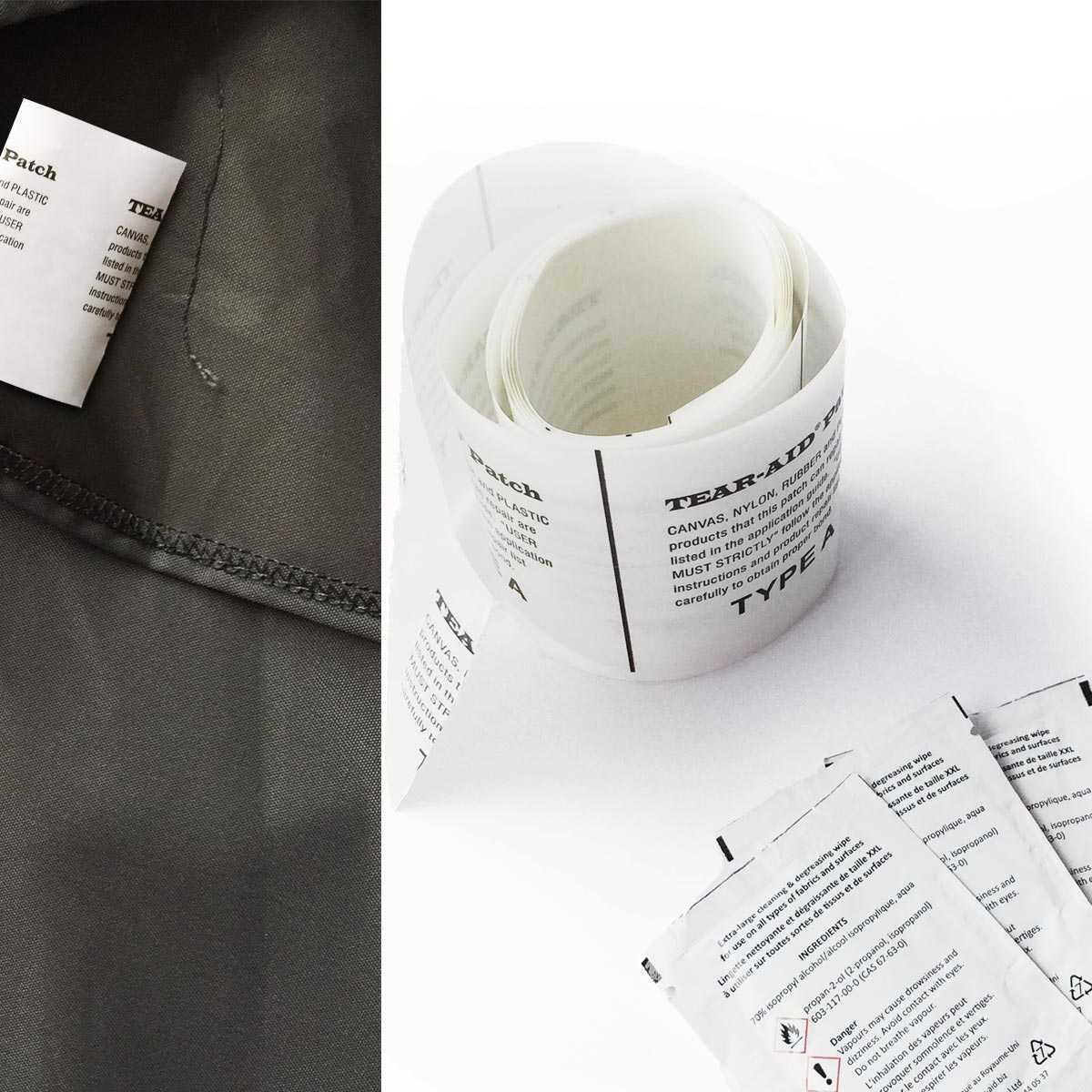 Patch adhésif de réparation pour bâche et toile - Rouleau 1m50