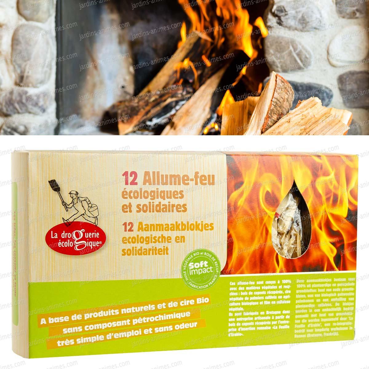 allume-feu barbecue, en bois x12 - cheminée et poêle à bois