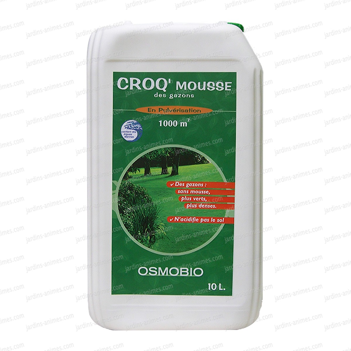 Anti Mousse Naturel Terrasse croq mousse des gazons 10l - naturel - antimousse