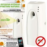 Diffuseur Anti-Moustiques intérieur au pyrèthre + télécommande