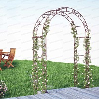 Arche de jardin arrondie en acier plein