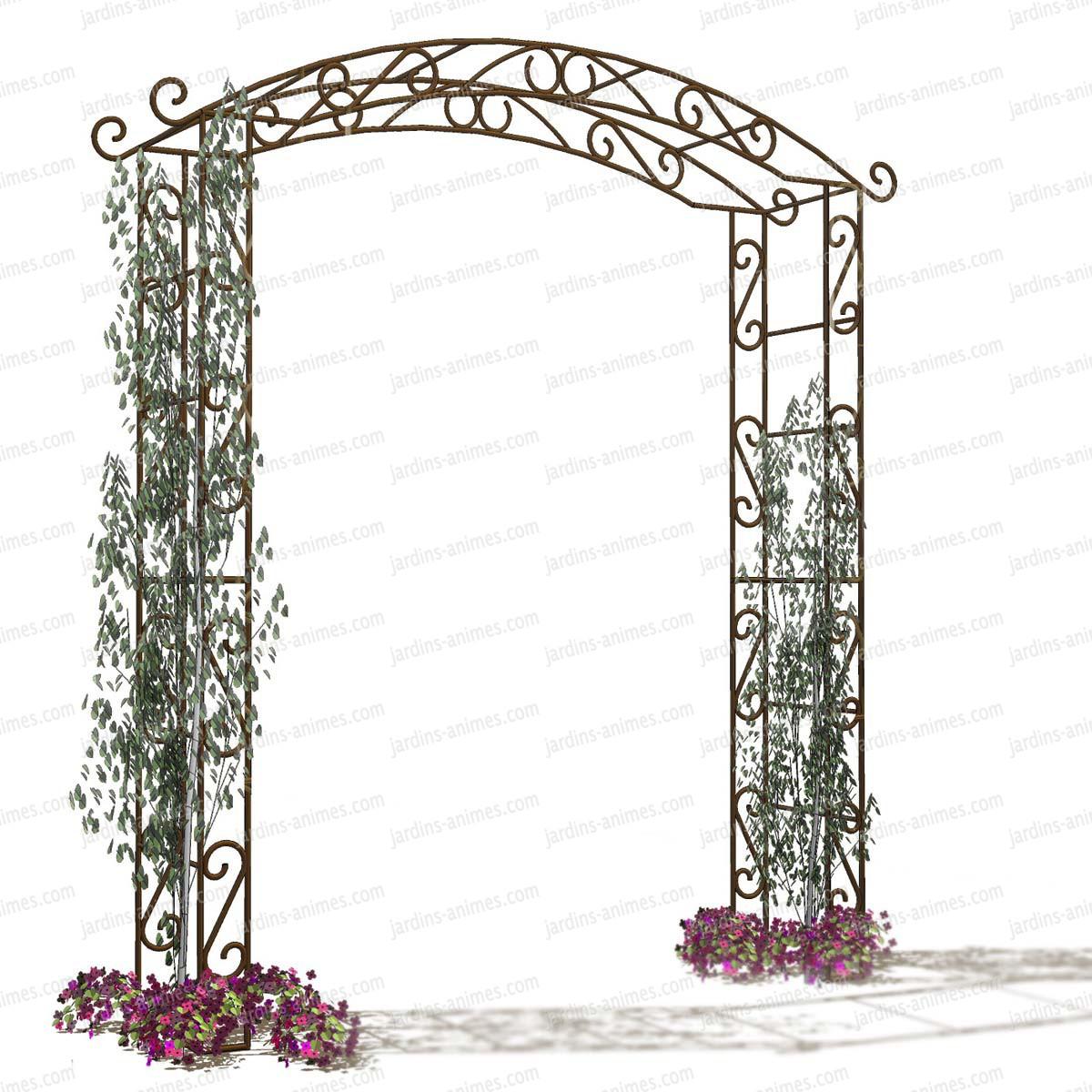 Arche de jardin pagode arches kiosque et marquise for Fabriquer une arche de jardin