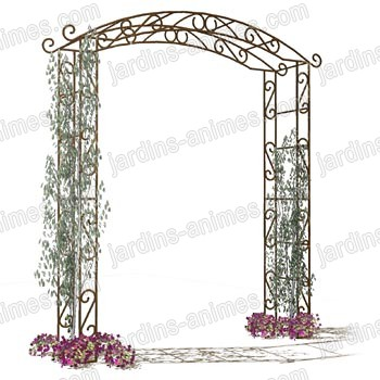 arche de jardin pagode arches kiosque et marquise. Black Bedroom Furniture Sets. Home Design Ideas