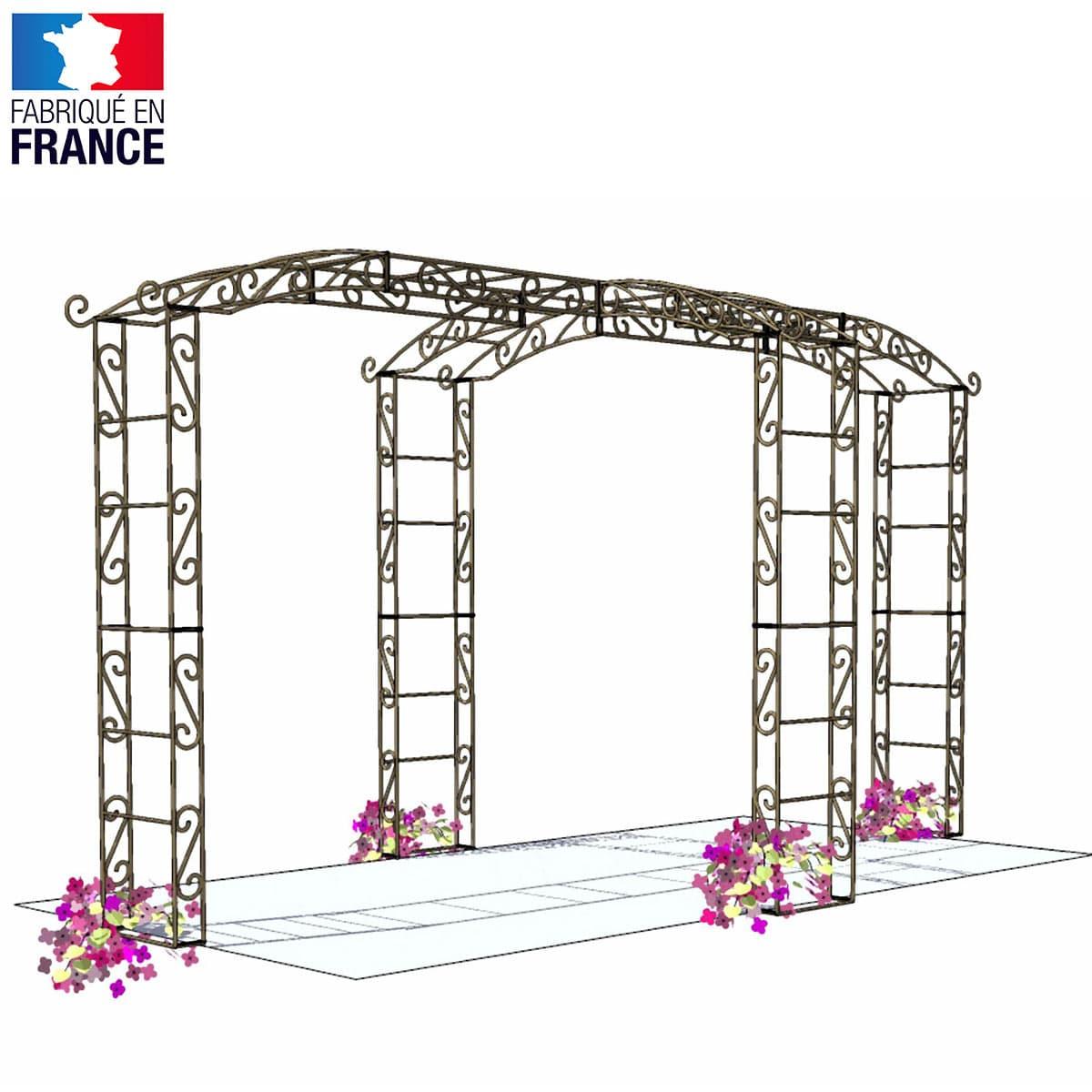 Kiosque de jardin tonnelle 4 pieds Rallonge - Arches Kiosque et Marquise