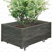 Bac à fleurs en bois Noir 93x54cm