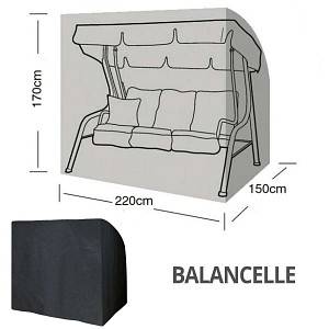 Housse bâche protection balancelle 3 places long. 220cm