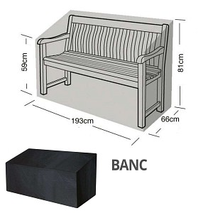 Housse bâche protection banc 3 places long. 190cm