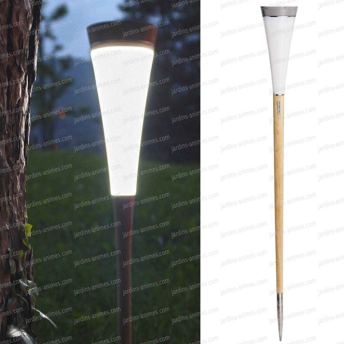 Balise lumineuse solaire roseau haut 130cm eclairage et for Balise solaire jardin
