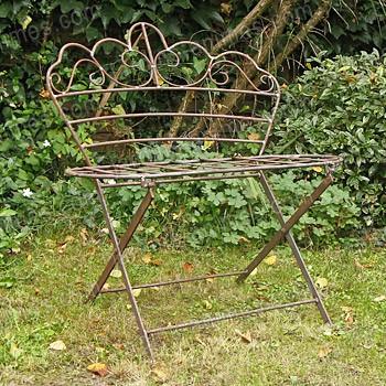 Banc bucolique en fer forg mobilier de jardin - Banc de jardin en fer forge ...