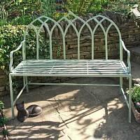 Banc de jardin en fer Arche gothique