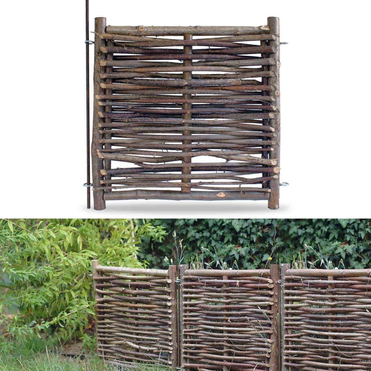 Petite barri re noisetier 50 x avec tige cloture et occultation - Acheter de la paille pour jardin ...