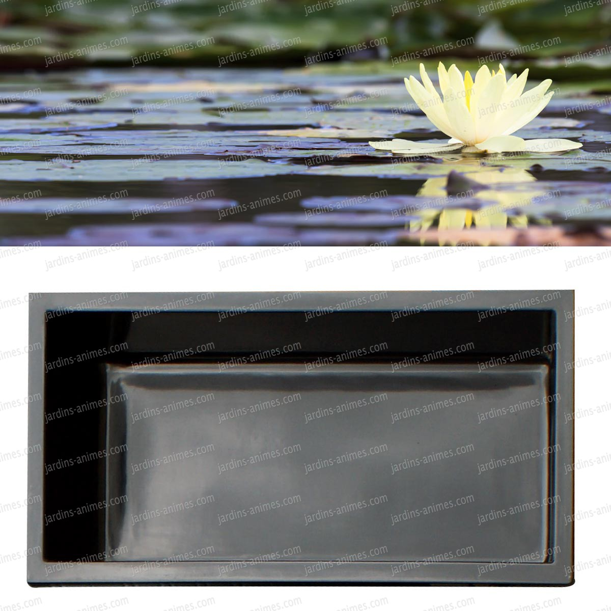 Bassin renforc fibre de verre rectangulaire 140x70cm for Liner sur mesure pour bassin