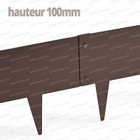 Bordurette métal acier 1m - français haut.100mm