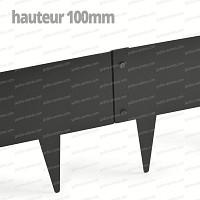 Bordurette Acier 1m - français haut.100mm - Gris RAL 7022