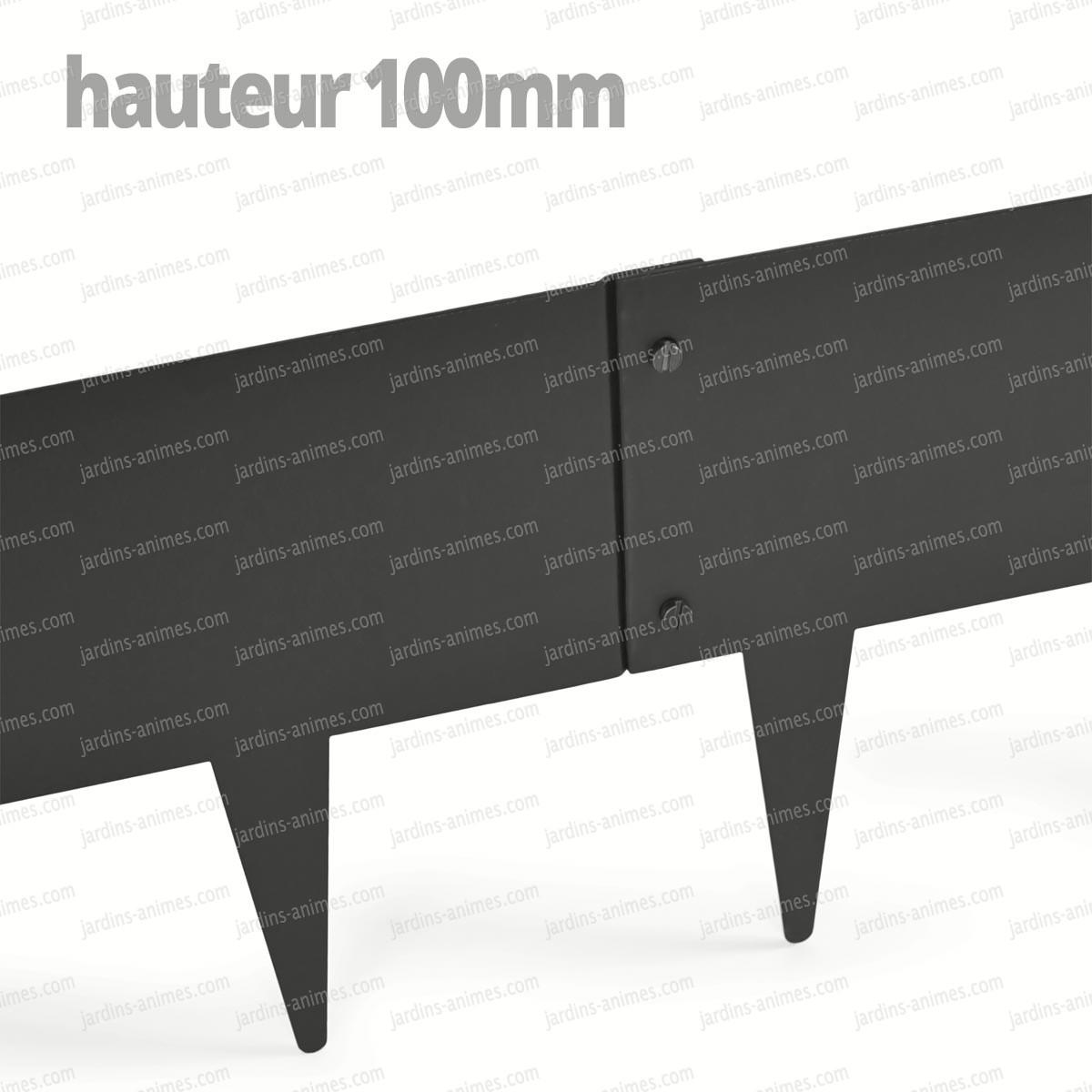 Bordurette acier 1m fran ais gris ral 7022 bordurette gazon - Acier s ...