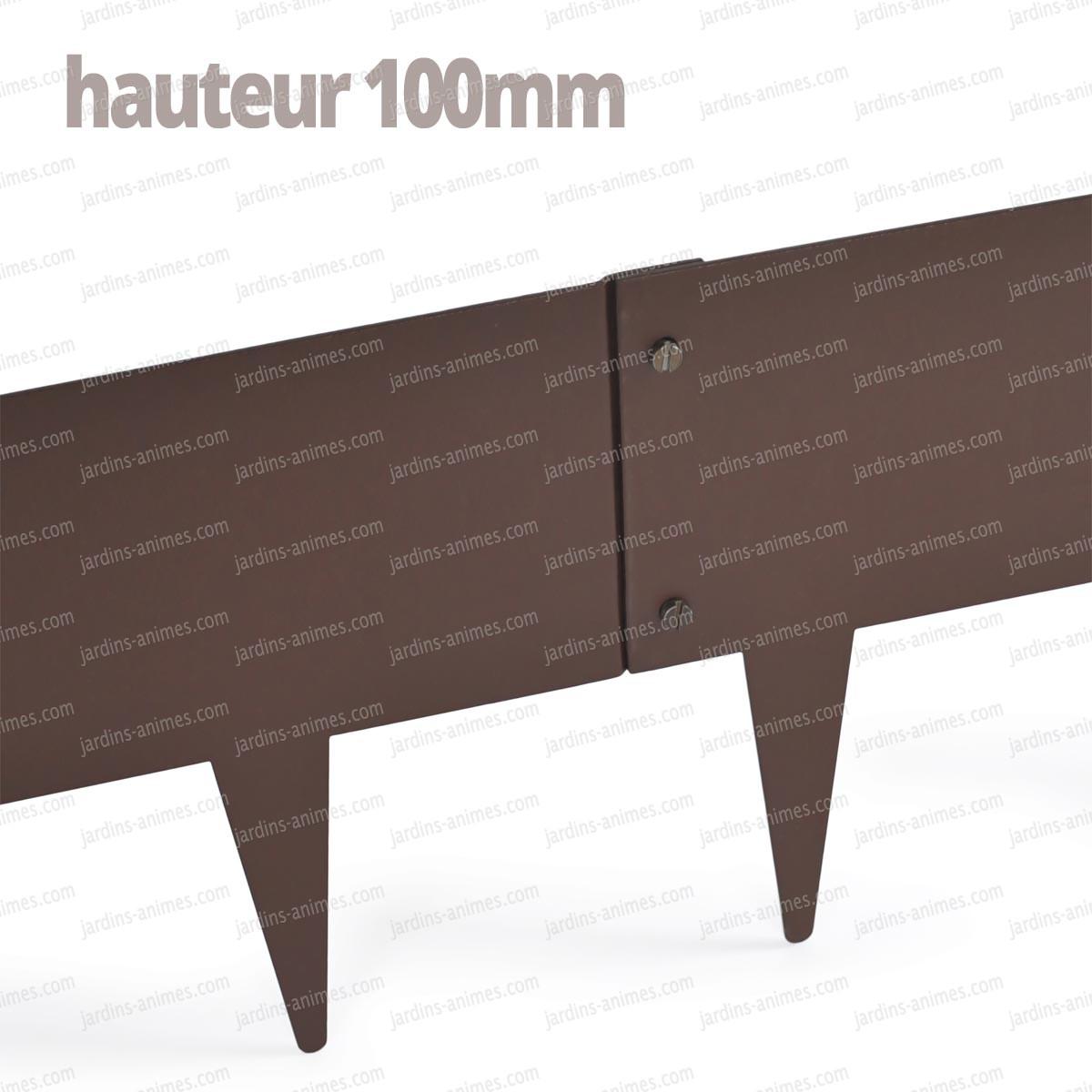 bordurette m tal acier 1m fran ais. Black Bedroom Furniture Sets. Home Design Ideas