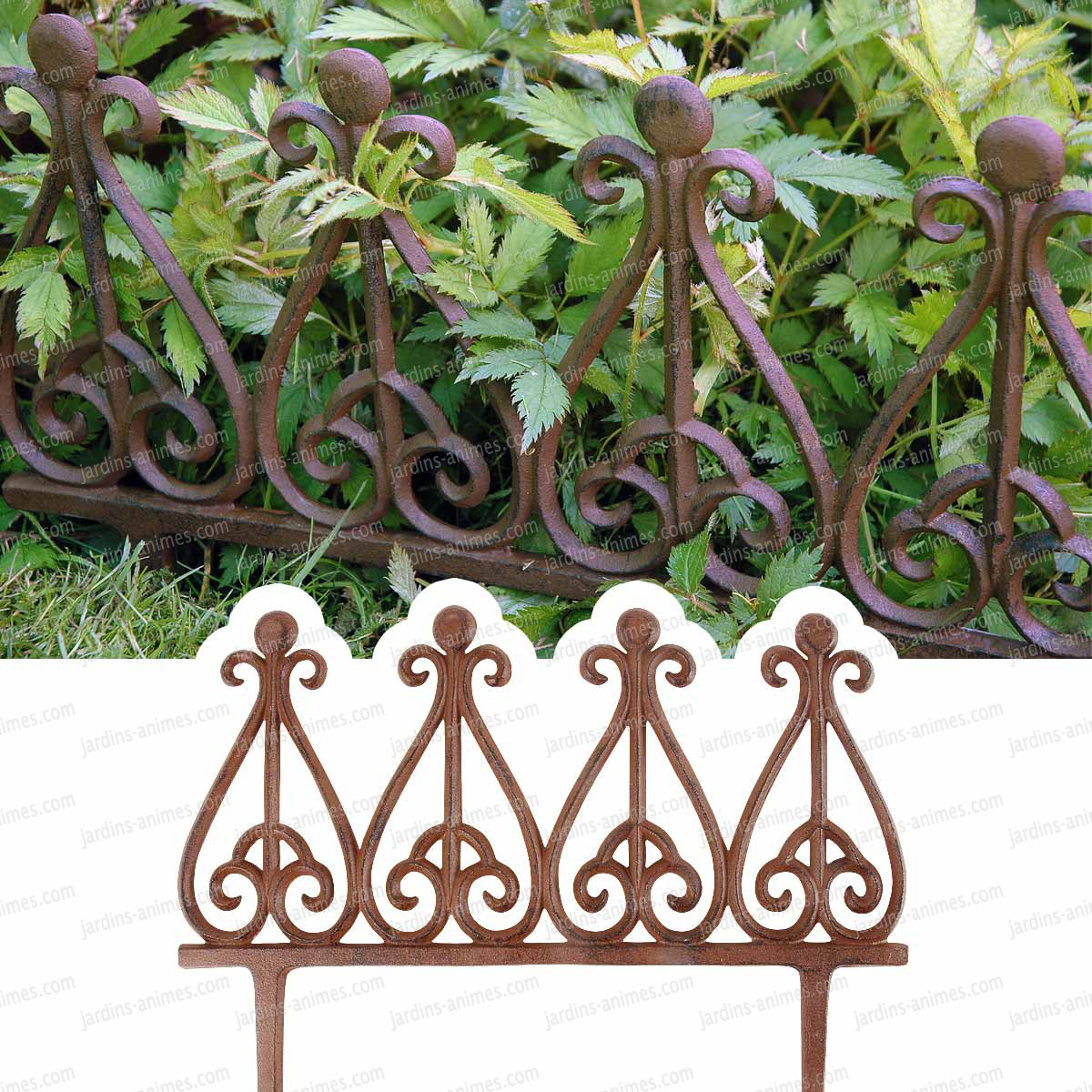 Bordure fonte style antique bordure de jardin for Bordure metal pour jardin