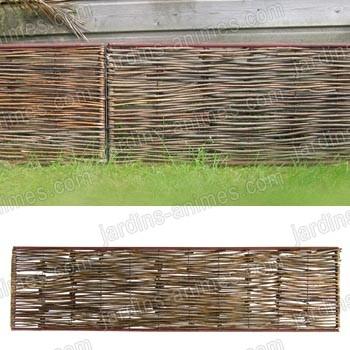 Bordure m di vale acier acacia 180x45cm tige bordure de jardin - Bordure jardin tressee ...