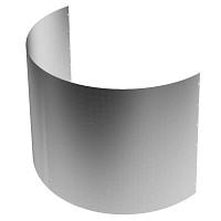 Bordure demi-lune h.60cm diam.100cm métal acier brut galvanisé