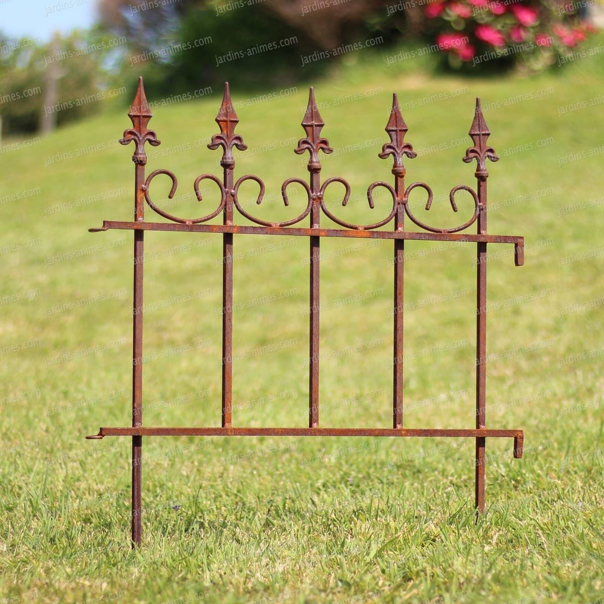 Bordure de jardin antique en m tal rouill long 66cm bordure de jardin - Bordure de jardin metal ...