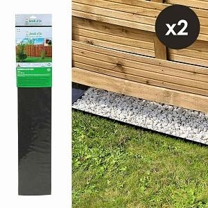 Lot de 2 bordures de jardin Bordicloture 1m x 22cm
