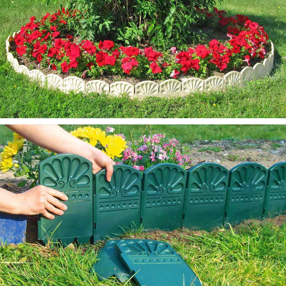 Bordures décoratives de jardin en plastique - Bordure de Jardin