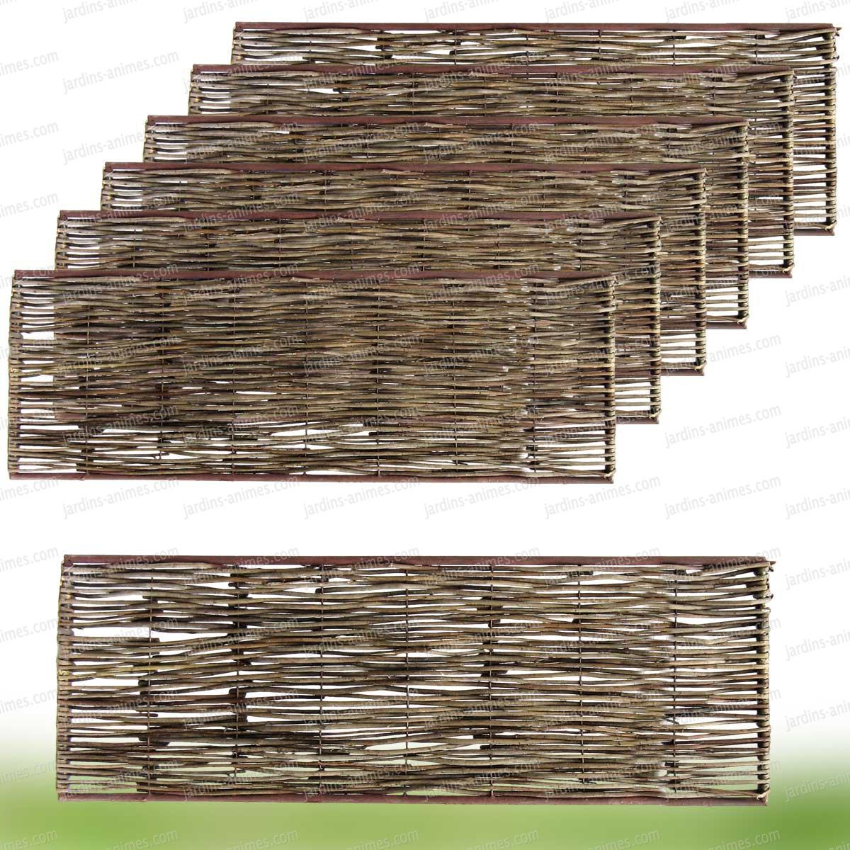 Bordure m di vale acier osier 90x45cm lot de 6 bordure for Decoration osier pour jardin