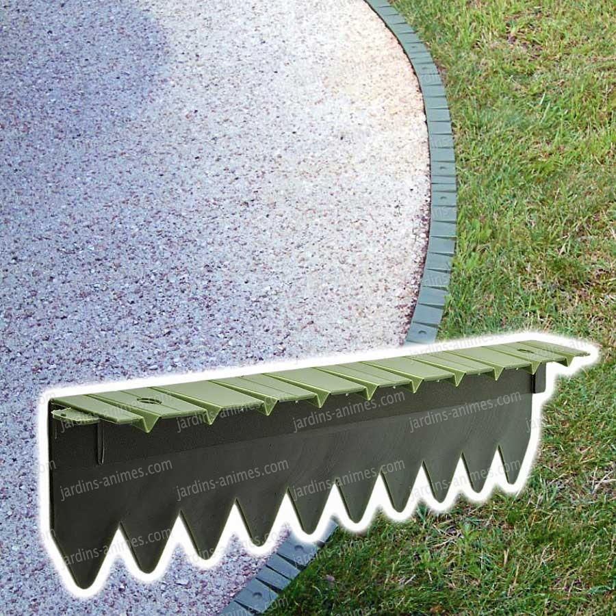 Bordurette pelouse 6x50cm bordurette gazon - Bordure pour jardin ...