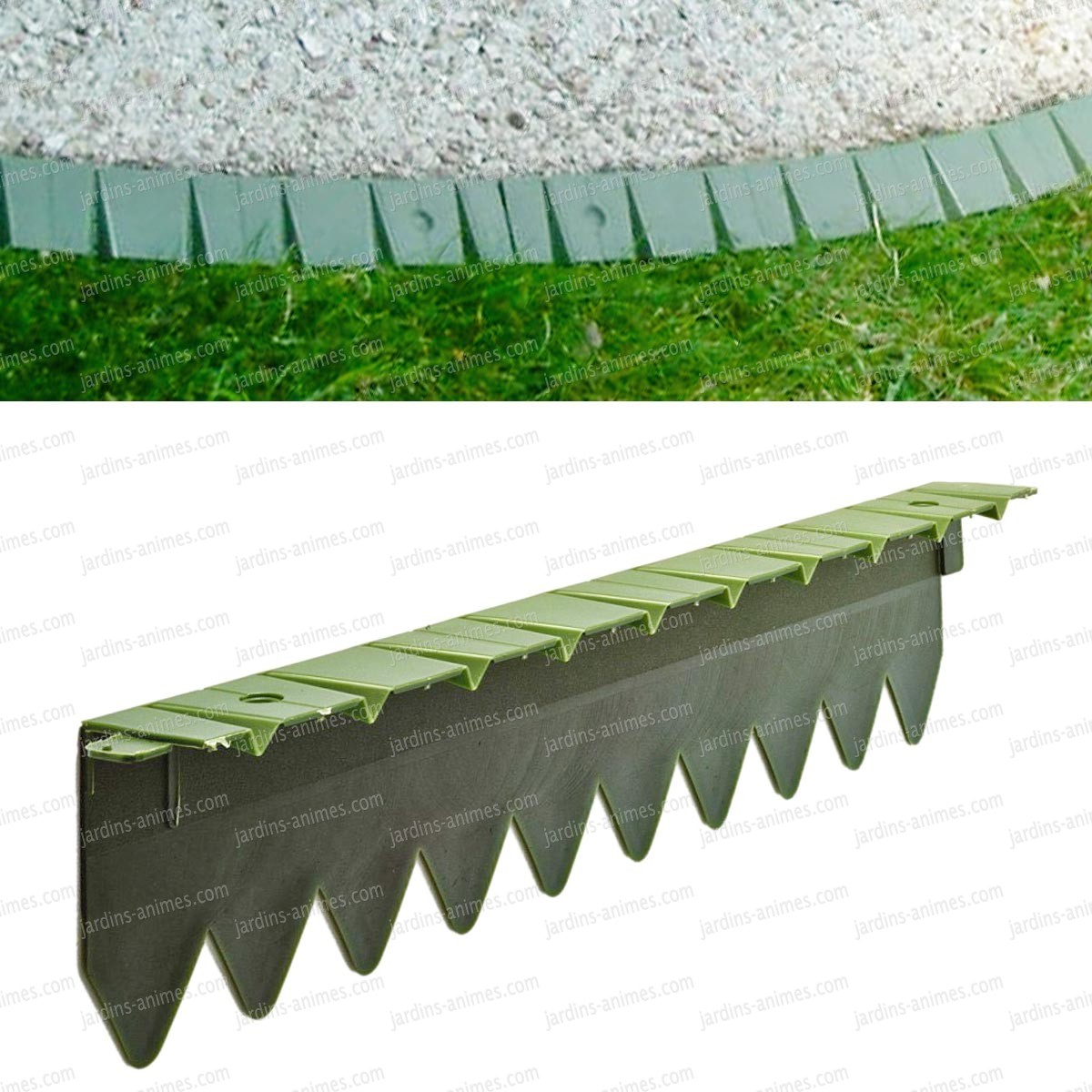 Bordurette pelouse flexible en plastique 6x50cm - Bordure de Jardin