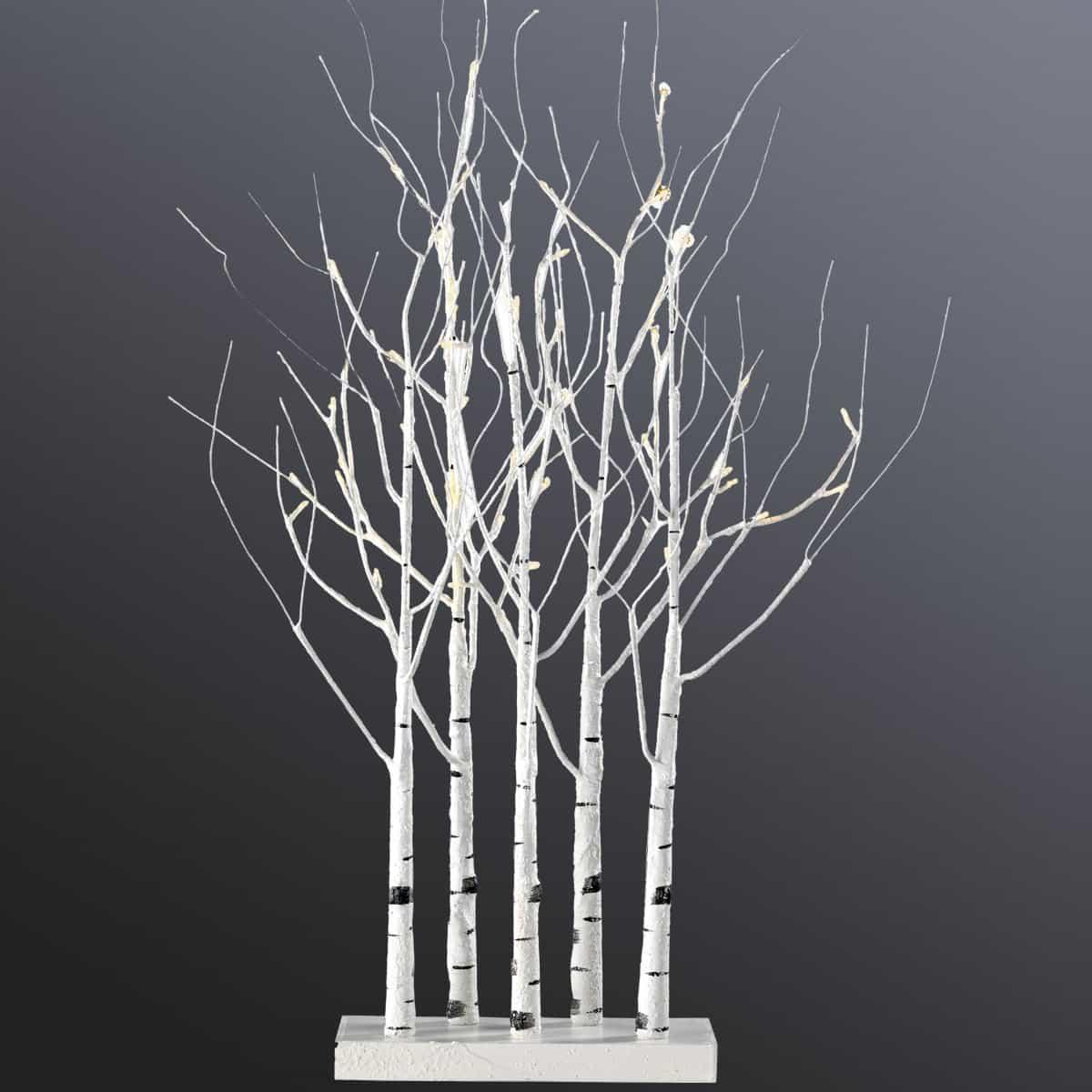 bosquet de bouleaux lumineux led blanc chaud haut. 90cm - eclairage