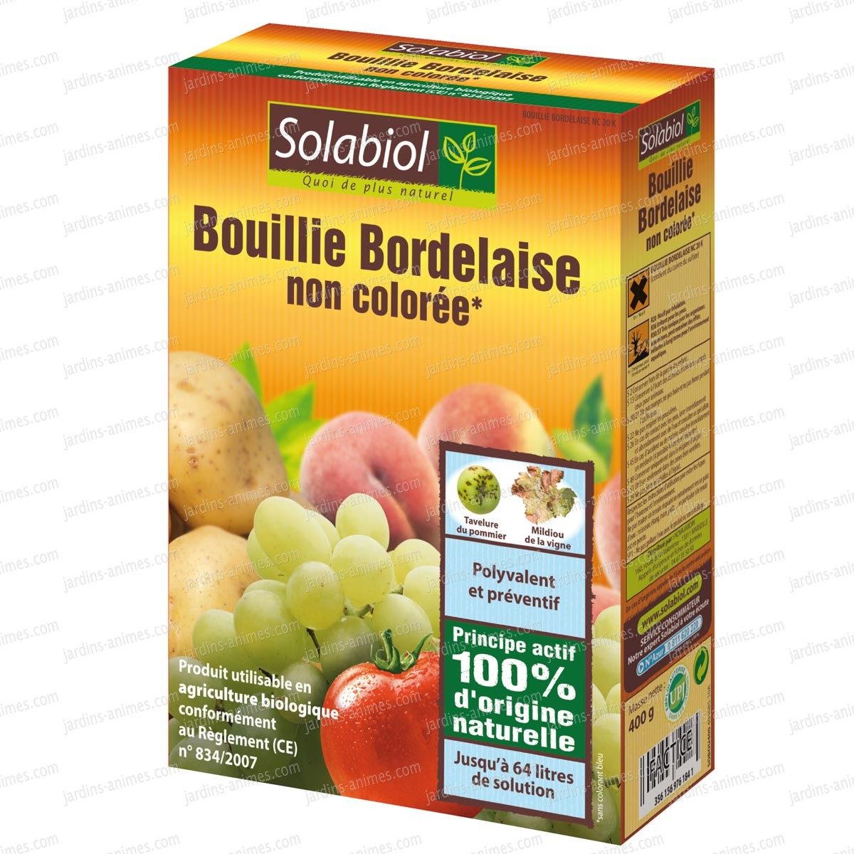bouillie bordelaise incolore 400g agriculture bio fongicide bio. Black Bedroom Furniture Sets. Home Design Ideas
