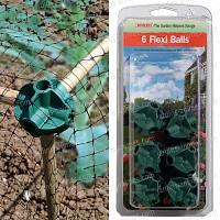 Boules attache bambou anti oiseau x6