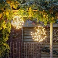 Boule lumineuse à LED pour décoration intérieure et extérieure - Blanc chaud