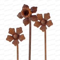 Bouquet de 3 tuteurs fleurs marguerite et narcisse