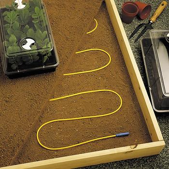 cable chauffant pour serres serre jardin accessoires. Black Bedroom Furniture Sets. Home Design Ideas