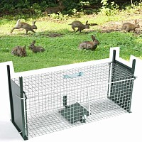 Cage piege à lapin double entrée