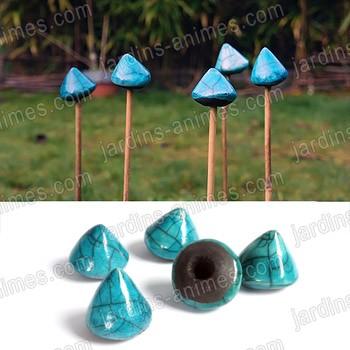 capuchon protege yeux pour tuteur x5 bleu tuteurs de jardin. Black Bedroom Furniture Sets. Home Design Ideas