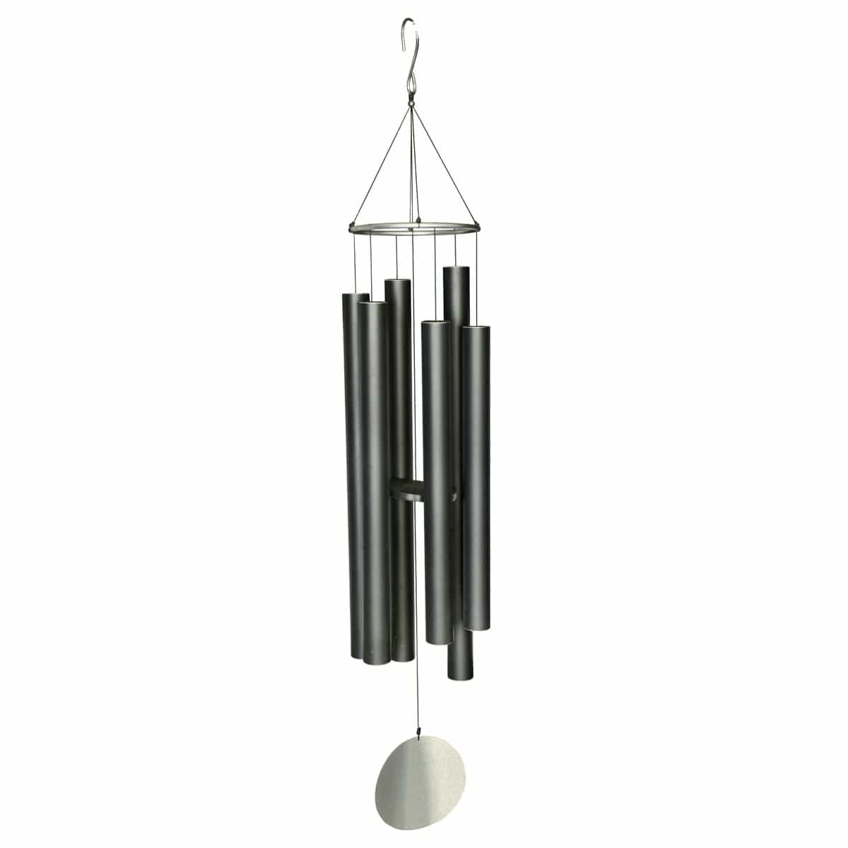 carillon vent 223cm en aluminium noir carillons zen et. Black Bedroom Furniture Sets. Home Design Ideas