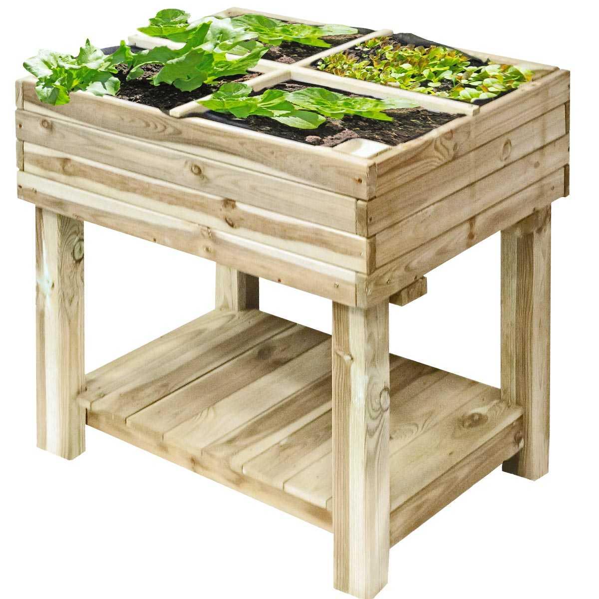 carr potager bois sur pied 80x60cm avec bache de protection vente au meilleur prix jardins