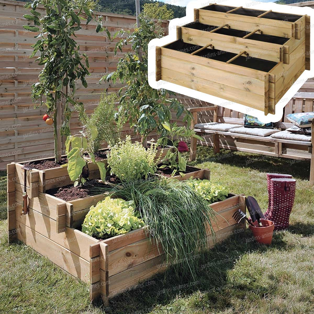 montage carr potager jardiland. Black Bedroom Furniture Sets. Home Design Ideas