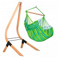 Kit Chaise-hamac Domingo comfort LIME et support en bois
