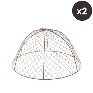Lot de 2 cloches de protection en grillage à poule H. 26cm