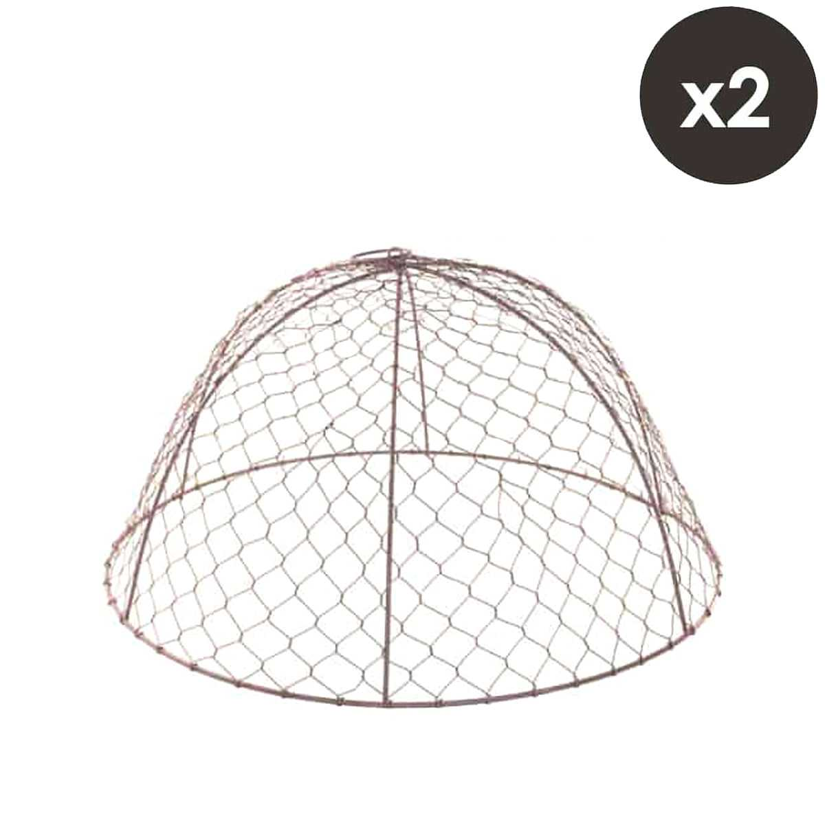 Lot de 2 cloches de protection en grillage à poule H.26cm