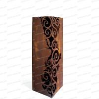 Colonne carrée Venezia en métal 30x30xh.120cm