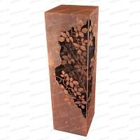 Colonne carrée Feuillage en métal 35x35xh.120cm