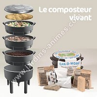 Composteur Vivant - Le lombricomposteur Can-O-Worms