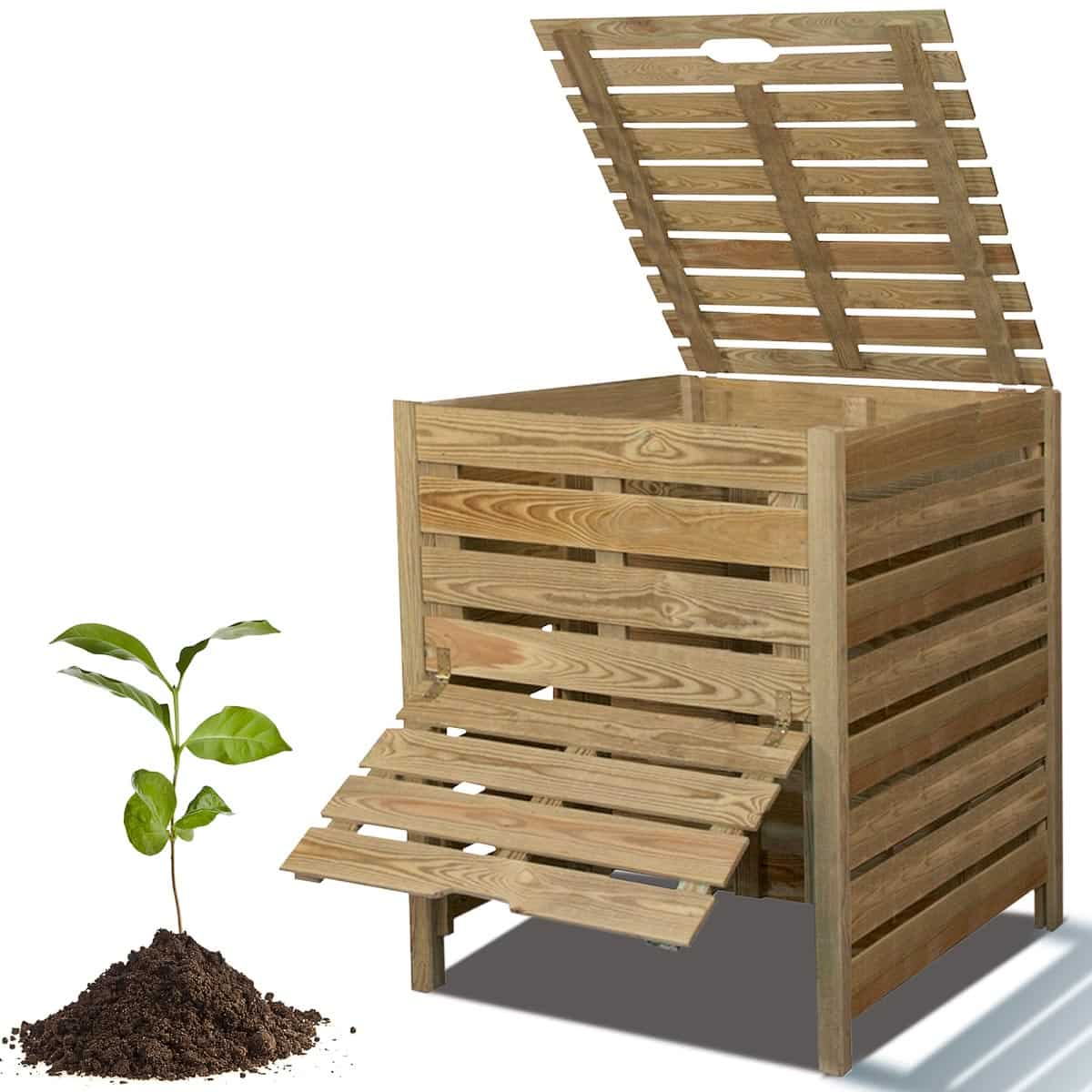 jardins anim s jardin bio recycler et composter composteur de jardin composteur bois 800l en pin. Black Bedroom Furniture Sets. Home Design Ideas